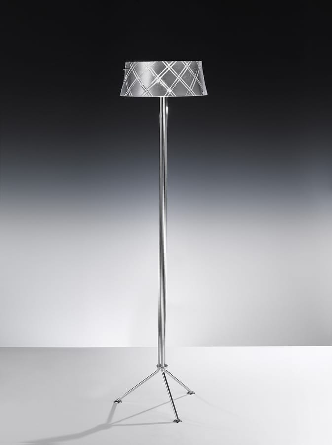 CORALLO H 170, Floor lamp in hand-engraved glass