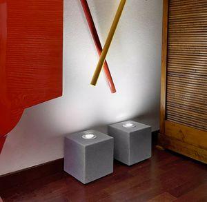 Cube design table floor lamp Slide Block Rock LP STO0206, Cubic shaped lamp