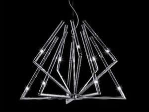 Daisy chandelier, Pendant lamp with glass diffusers