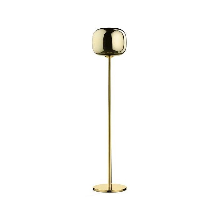 Dusk Dawn Floor Lamp, Floor lamp in glass and brass
