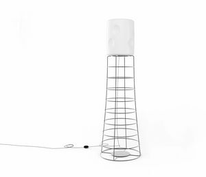 ET, Iron rod lamp, plastic lampshade