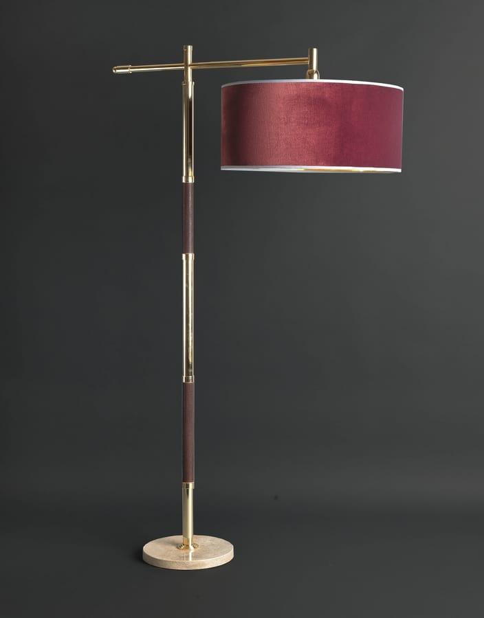 GALUCHAT HL1006FL-1-DW, Ground lamp with brass shaft