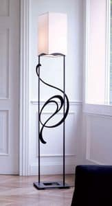 Genesis, Iron floor lamp ideal for classic and elegant