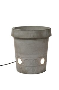 Gervaso HP147, Concrete vase with light, perfect for outdoor use
