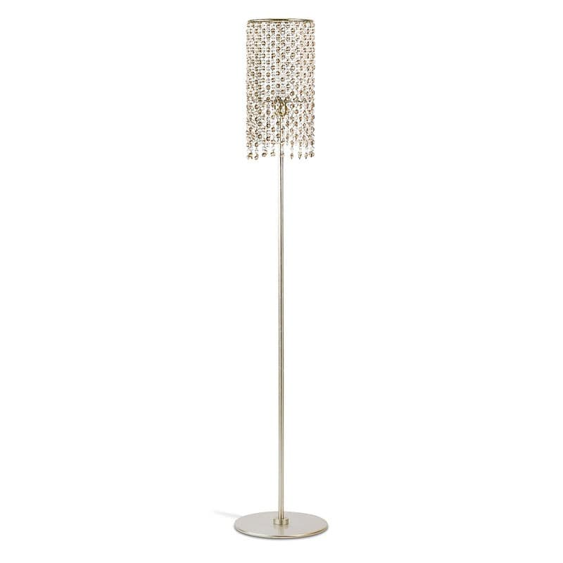 Gioia floor lamp, Floor lamps with glass cut diamond pendants