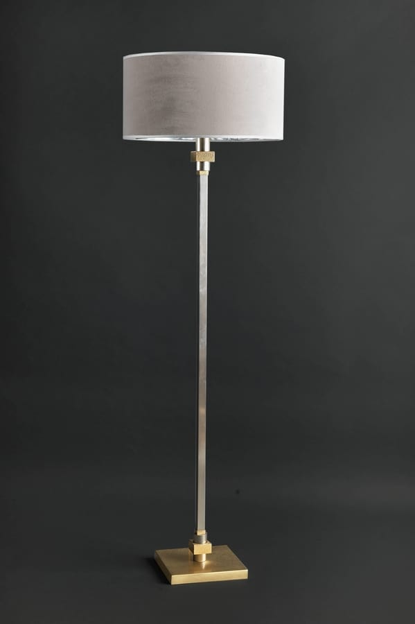 JACKIE HL1086FL-1, Ground lamp in brass with shade