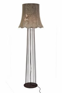 Life H6051V, Floor lamp with vintage fabric lampshade