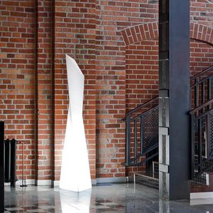Modern contemporary design column floor lamp Manhattan by Slide SD MAF190A, Modern polyethylene lamp