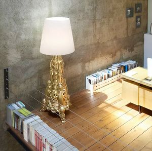 Modern design baroque style LED floor lamp Madame of Love by Slide LA MDM, Revisited Baroque style lamp