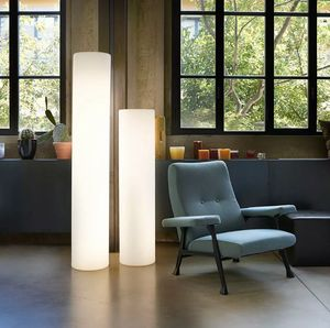 Modern design cylinder floor lamp Fluo by Slide LA CIL, Cylindrical lamp for indoor and outdoor