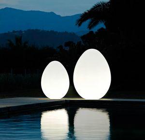 Modern design egg-shaped floor lamp Slide Dino LP OVF, Egg-shaped lamp