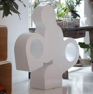 Modern design floor lamp in polyethylene There by Slide LP THE100A, Polyethylene sculpture-lamp