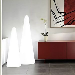 Modern design pyramid floor lamp Slide Cono LP COF, Cone-shaped floor lamp