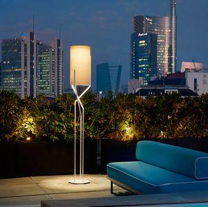 Modern minimalist design floor lamp in metal Slide Aura LP AUR, Modern floor lamp