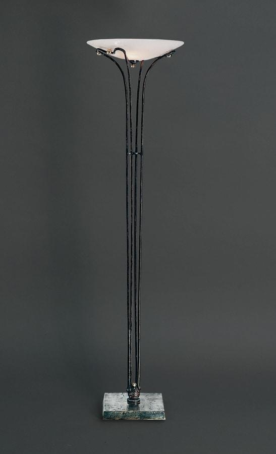QUADRO HL1070FL, Floor lamp in iron