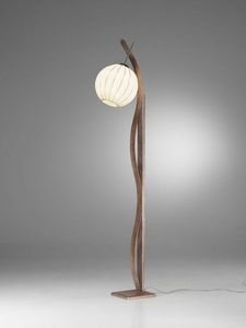 Sfera Rp370-180, Floor lamp with sphere diffuser, with an ethnic tase