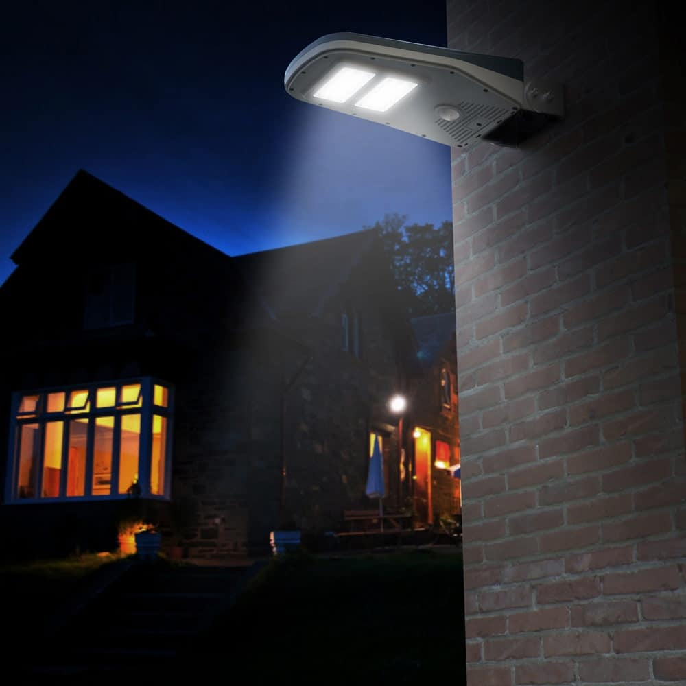 Solar energy street lamp with remote control – LS030LED, Street lamp with photovoltaic panel, for pedestrian areas