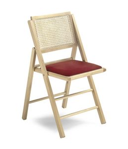 105 IS, Folding chair with Vienna straw back