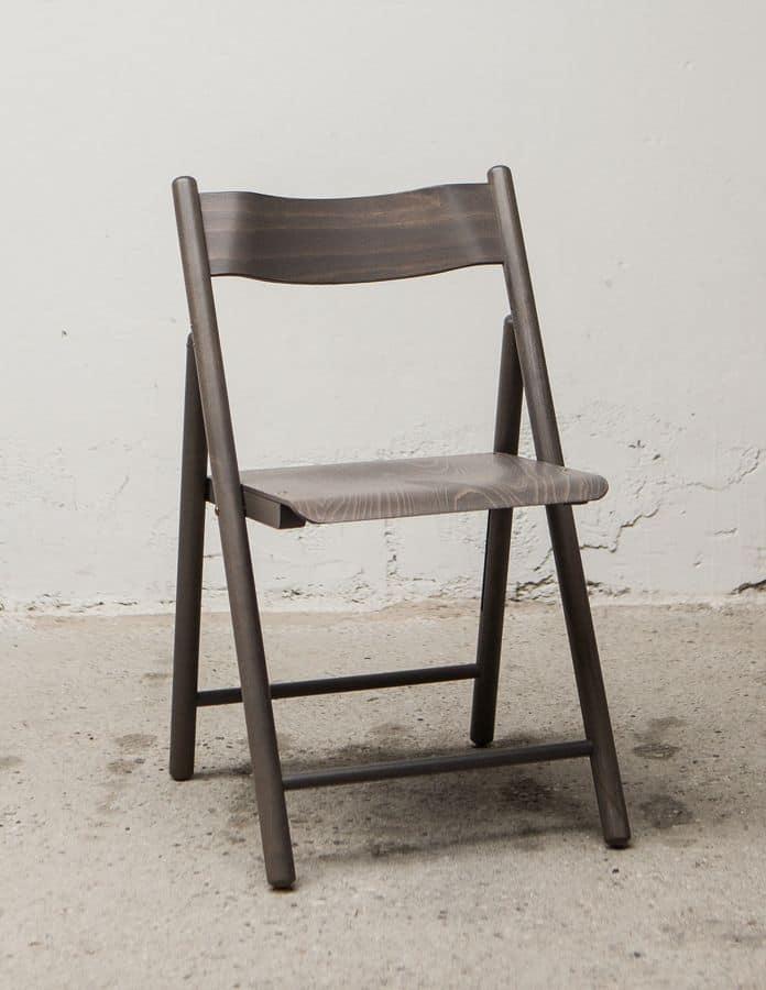 184, Lightweight folding chair, made of beech wood