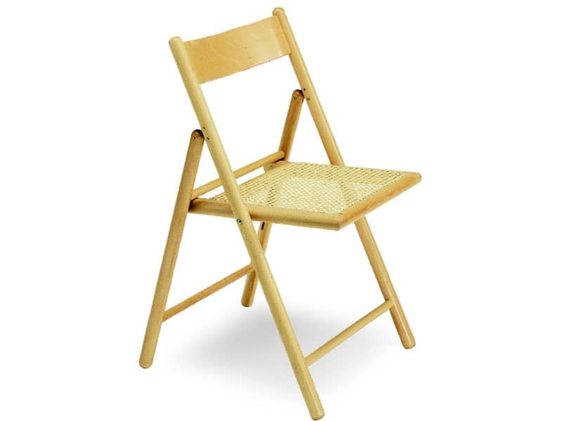 186, Beechwood chair, foldable, with Indian cane seat