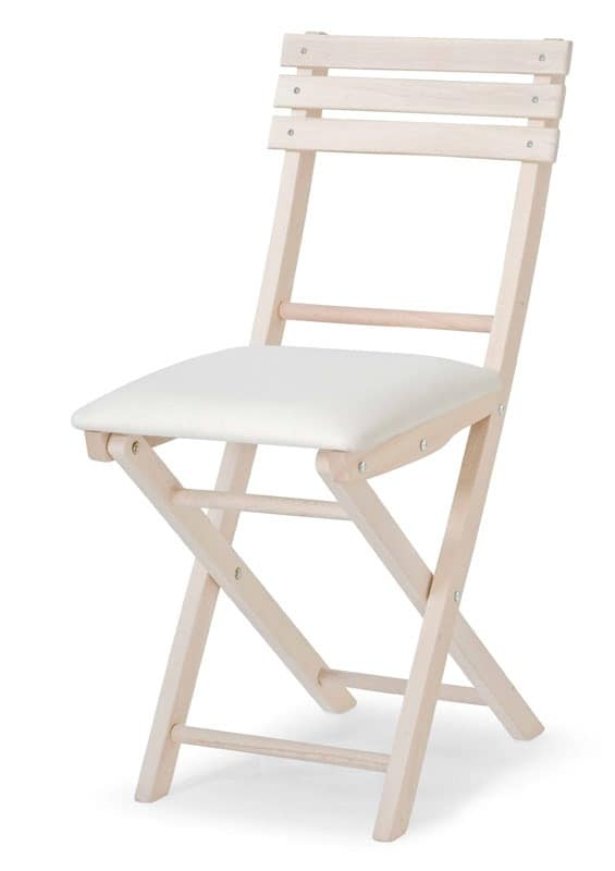 Ale Imb, Folding chair in beech, for events and parties