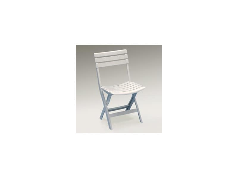 Birikina, Folding chair made of plastic, space saving, also for outdoor