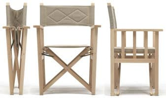 Dolce Vita, Foldable chair in wood for indoor and outdoor use