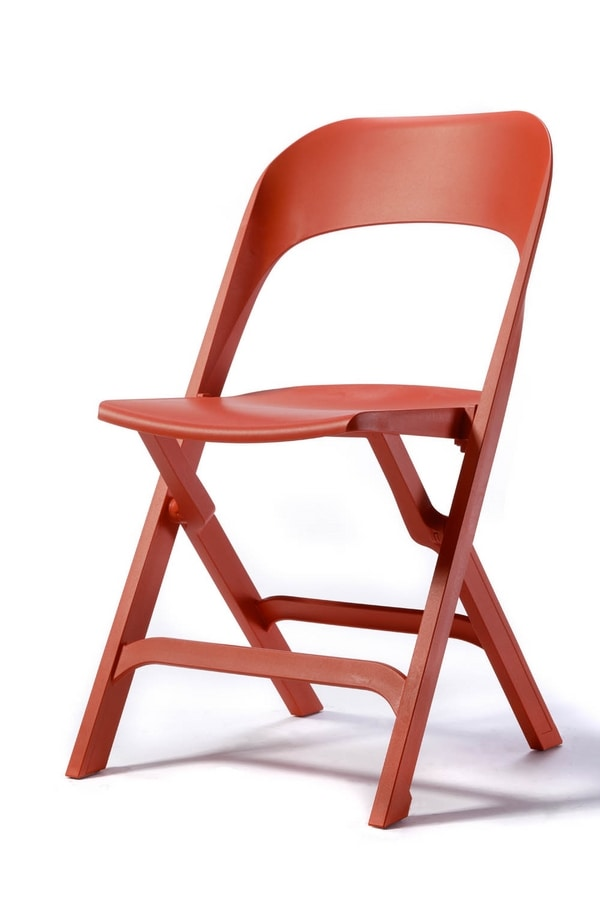 Flap, Folding chair made of technopolymer