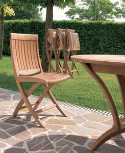 Harmony folding chair, Wooden folding chair, for outdoor use