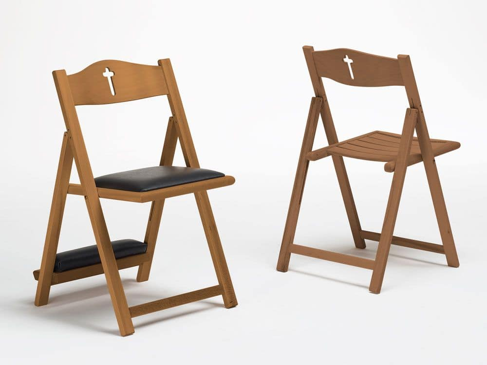 Jubileum, Folding chair with kneeler for churches