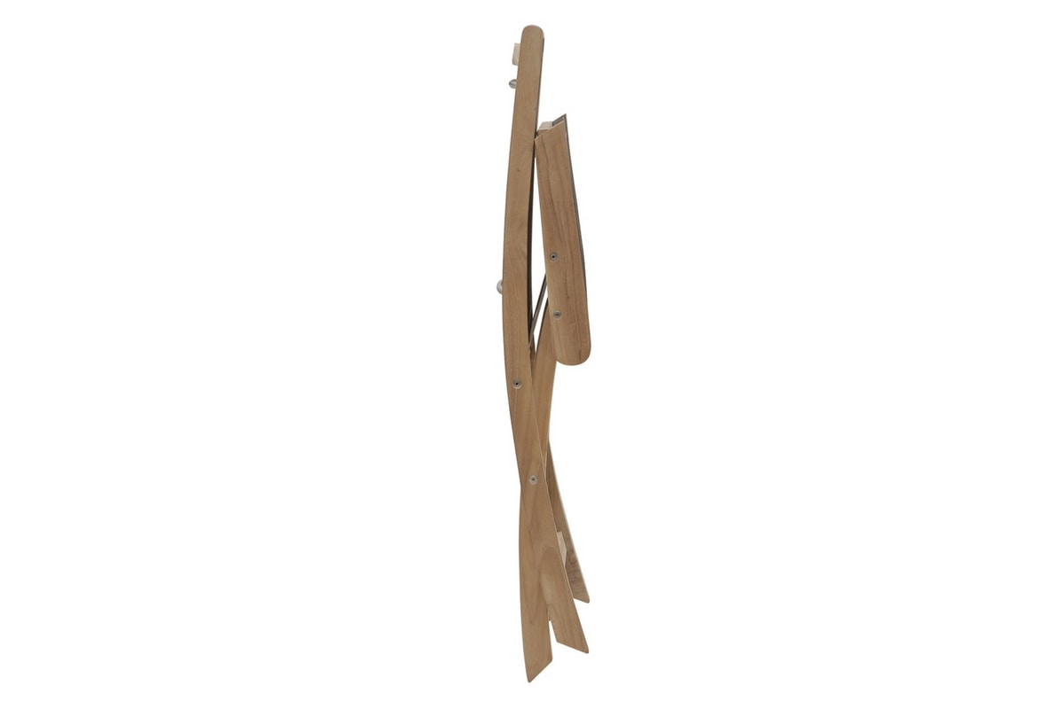 Macao 0340, Folding chair, in teak and waterproof fabric
