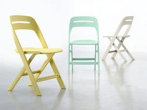 Novite, Plastic folding chair, for outdoor use