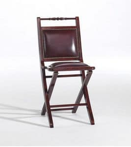 Paola p, Padded folding chair, with a classic style