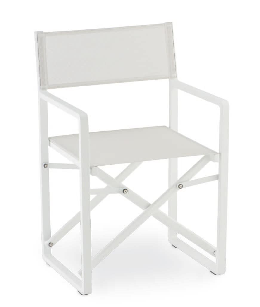 PL 470, Folding chair in aluminum and textilene, for outdoor