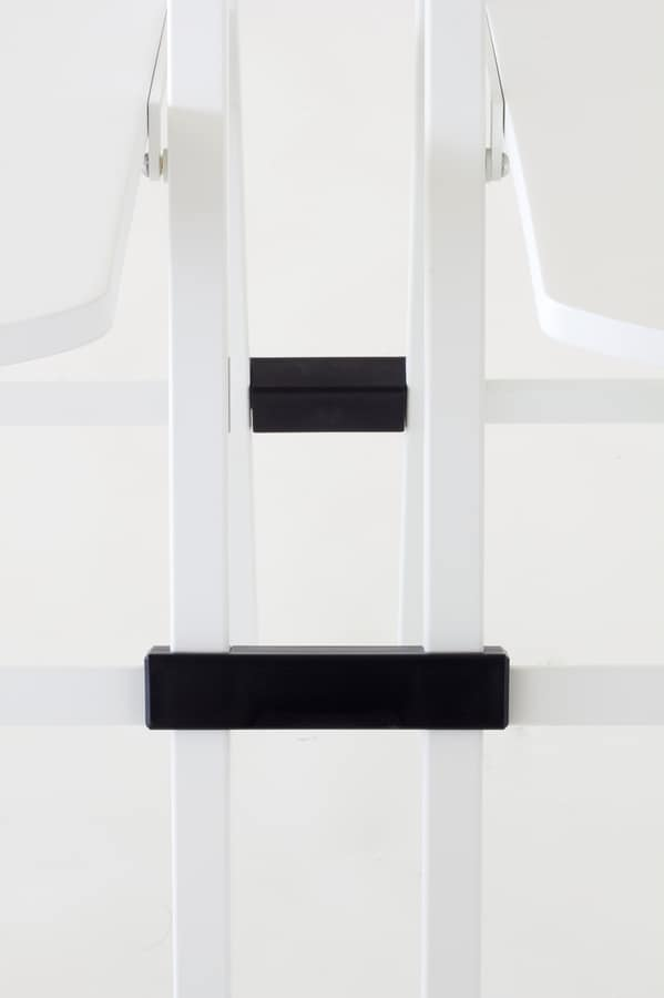 Pocket plastic, Versatile folding chair, metal structure, seat and backrest in coloured polypropylene