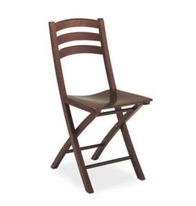 Quick, Wooden folding chair, for contract and residential use