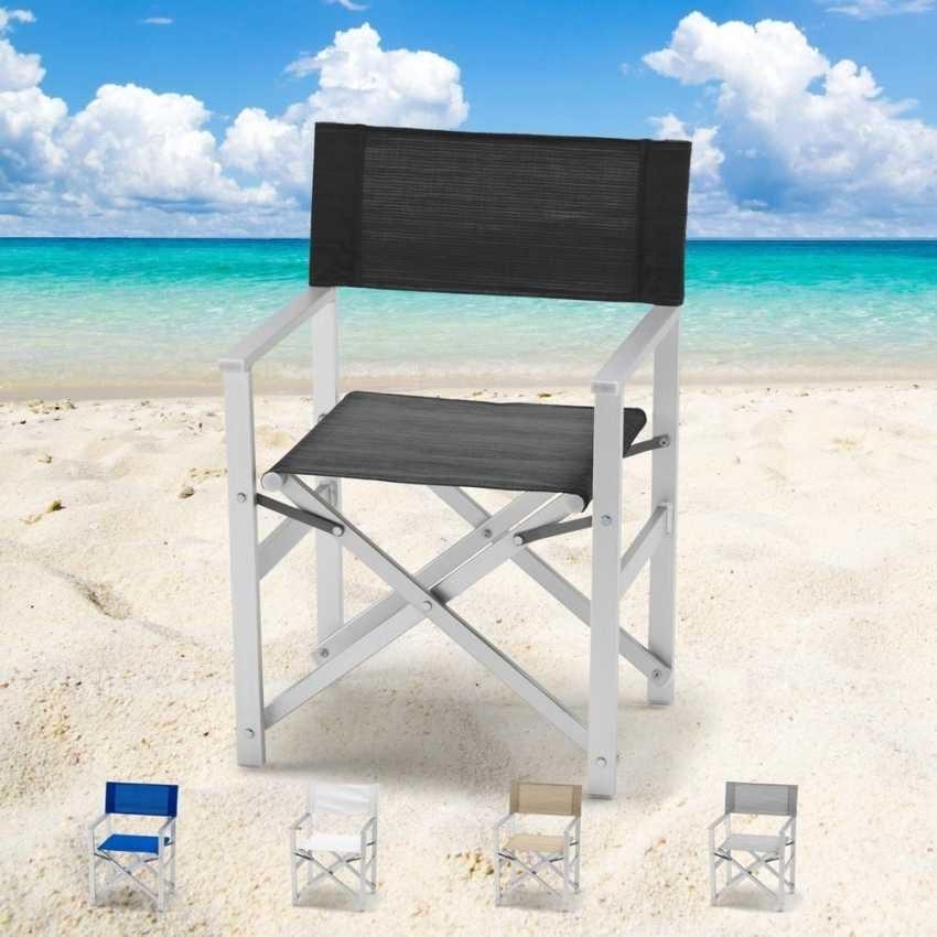 Director aluminum beach chair Regista – RE800LUX, Beach chair, foldable, space saving