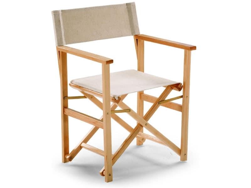 Regista D 11, Directors chair, lightweight, for terrace or beach house