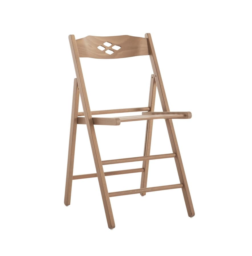 RP451B, Wooden space-saving chair