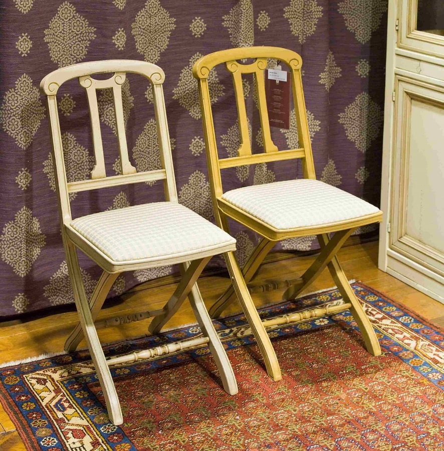 Thiphanie BR.0208, Folding chair with upholstered seat