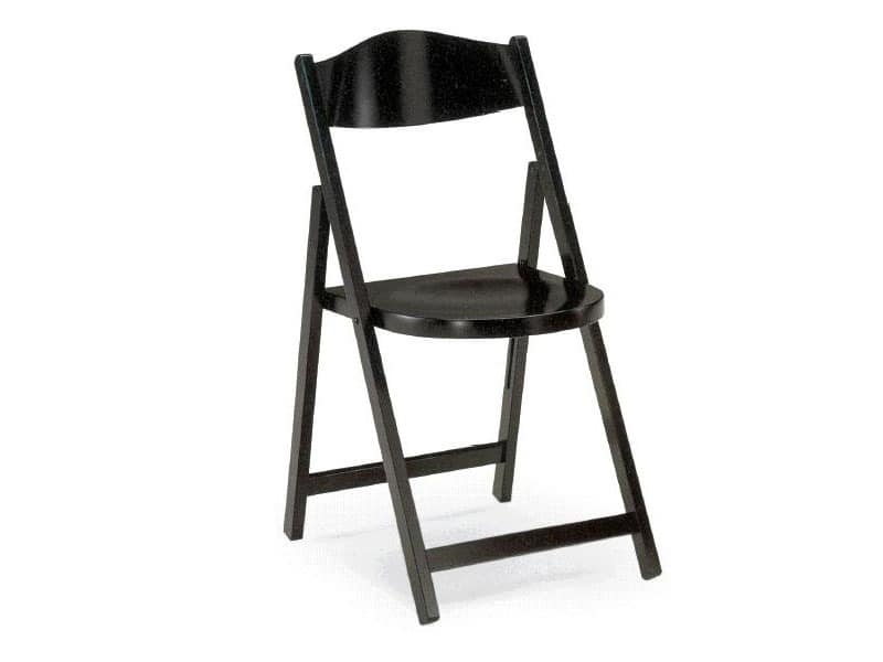 Ugo, Folding chairs in dark wood