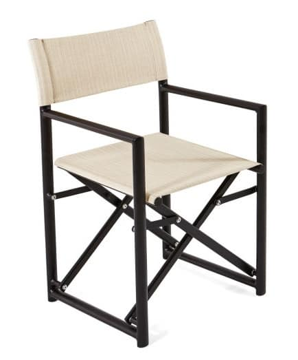 Victor Director Armchair, Folding Chair, With Batyline Fabric, For Outdoors
