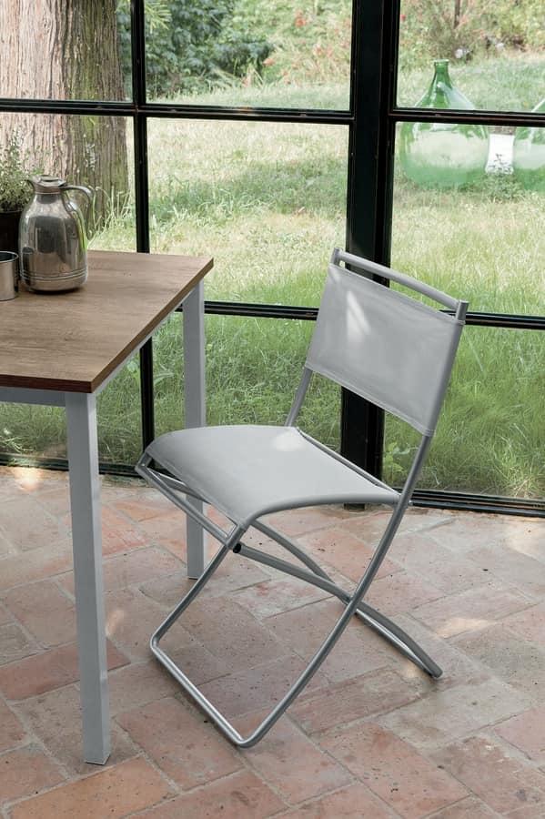 YUPPIE FOLDING SE144, Folding chair with net seat