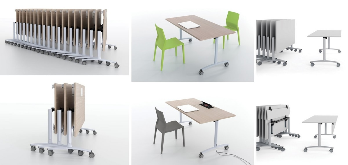 Archimede, Folding table, multifunctional, for catering