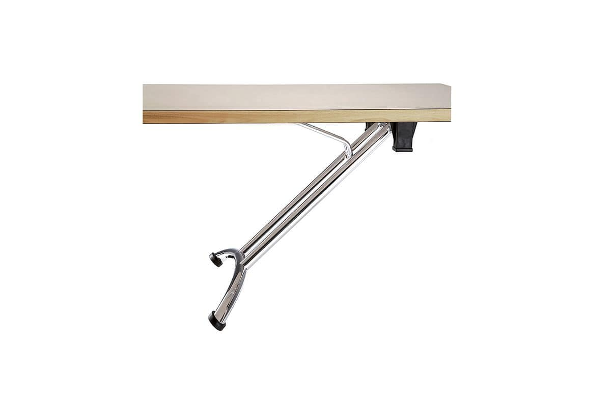 Arno 4 1635, Table with folding legs, with adjustable feet