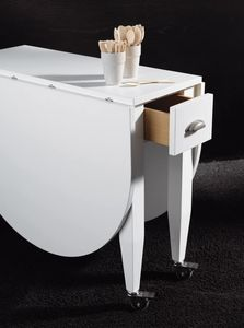 Art. 739 Open, Folding table with wheels, space-saving
