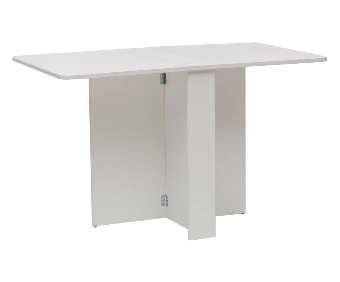 Art. 749 Snack, White wooden table, foldable