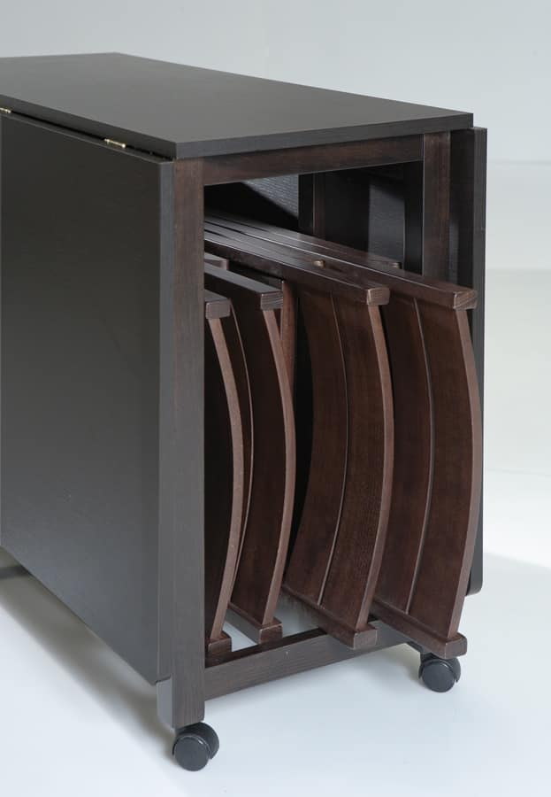 Art. 750 Party, Folding table, with storage container for chairs