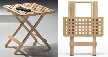 Fifty - Fifty, Space-saving folding tables, made of beech wood