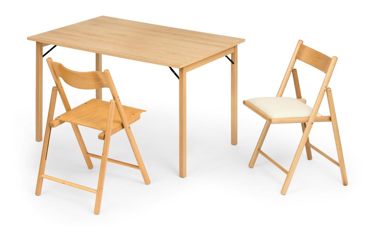 Italo, Folding wooden table